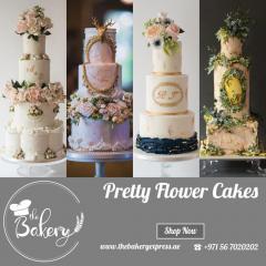 Pretty Flower Cakes In Dubai  Online Cake Shop I