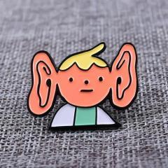 Big Ear Boy Soft Enamel Pins