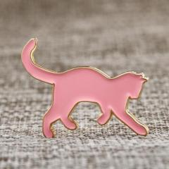 Pink Cat Lapel Pins