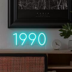 Order Personalised Year Led Neon Tubing From Lit