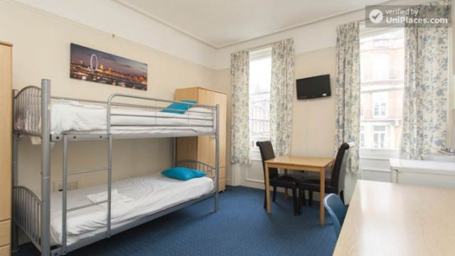 Bunk Bedroom (Room 1) - Remarkable 3-bedroom apartment in a student residence in Earl's Court 10 Image