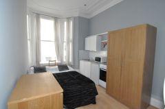 A newly refurbished double studio flat in Kensington