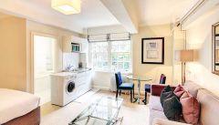 Spacious and bright studio apartment in Chelsea