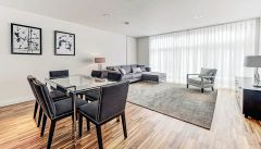A luxurious two bedroom, two bathroom flat