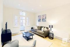 Spectacular three double bedroom, two bathroom flat