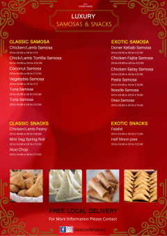 Fresh Good Quality Samosas & Indian Snacks on Sale