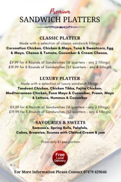 Premium Sandwich Platters & Top Quality Snacks on Sale