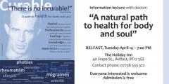 Invitation to an International Lecture - Belfast