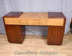 Art Deco Desk Walnut Rosewood Writing Table Furniture