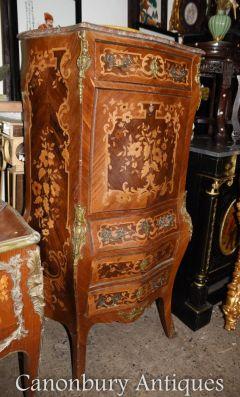 Antique Louis XVI Secretaire French Desk Cabinet Marque