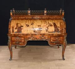 Louis XVI Desk - French Bureau Du Roi Roll Top