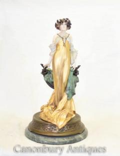Buy Art Nouveau Flower Girl Statue by Max Turner Signed