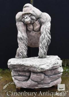 Giant Lifesize Stone Gorilla Garden Statue Monkey Ape