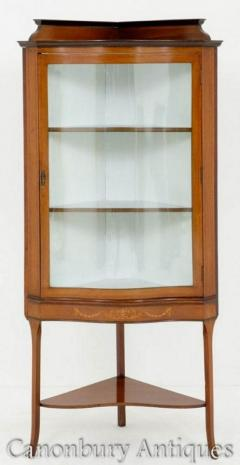Sheraton Revival Corner Cabinet 1890 Display