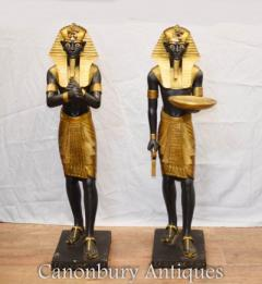 Pair Egyptian Pharaohs - Sphinx Pharaoh Sphinxes