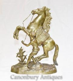Antique Bronze Marley Horse Statue - Classical French