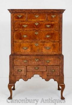 Queen Anne Chest on Chest in Walnut Circa 1700