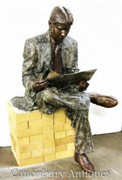 Lifesize Bronze Oxford Univeristy Student Casting 1930s