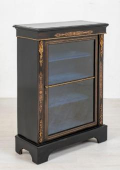 Buy Victorian Pier Cabinet Ebonized Display Circa 1860