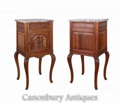 Buy Pair French Bedside Cabinets - Antique Nightstands