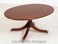Buy Regency Coffee Table Mahogany Oval Online