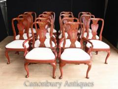 Buy Chinese Dining Chairs - Red Lacquer Set 12 Chinoise