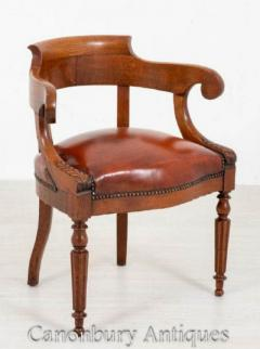 Buy Victorian Desk Chair - Antique Oak Office Chairs 18