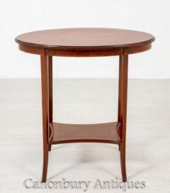 Sheraton Revival Side Table - Oval Occassional Tables