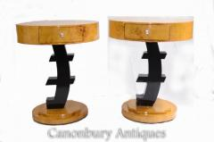 Art Deco Side Tables - Pair Euro Occasional Furniture
