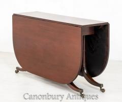Buy Mahogany Cumberland Table - Antique Drop Lea