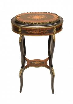Buy French Side Table Stand Marquetry Inlay 1880