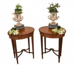 Buy Pair Adams Side Tables Oval Cocktail Table I