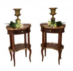Buy Pair Regency Side Tables Brass Gallery End T