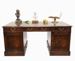 Buy Edwardian Pedestal Desk Mahogany Antique 191