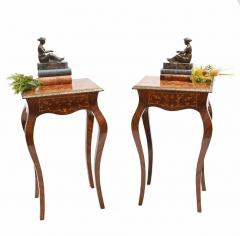 Buy Pair French Side Tables Empire Floral Inlay