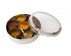 Stainless Steel Spice Box with Clear Lid Size 10