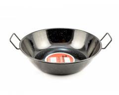 Zinel Enamel Pan 32cm Black with Two Handles