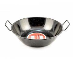 Zinel Enamel Pan 34cm Black with Two Handles