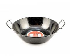 Zinel Enamel Pan & Cookware 30cm Black with two Handle