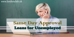 Same Day Approval Loans for Unemployed on Benefits