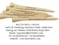Printed Wooden Golf Tees - Best4balls,Oxfordshire