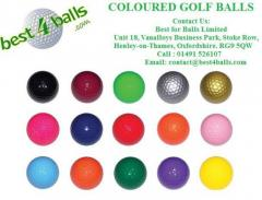 Coloured Golf balls  best4balls,Oxforshire UK