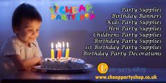 Kids Party Supplies, Decorations and Accessories
