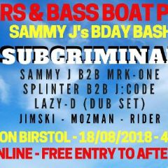 Beers & Bass Boat Party / Sammy J Bday Bash