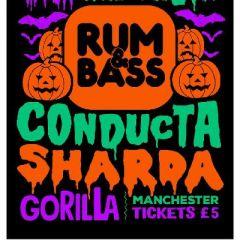 Rum&Bass UKG Halloween w/ Conducta & Sharda - Sat 27th Oct