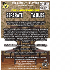 Open Auditions for 'Separate Tables'