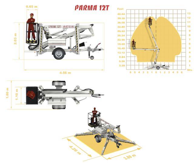 Trailer mounted aerial work platform Matilsa Parma12T 4 Image