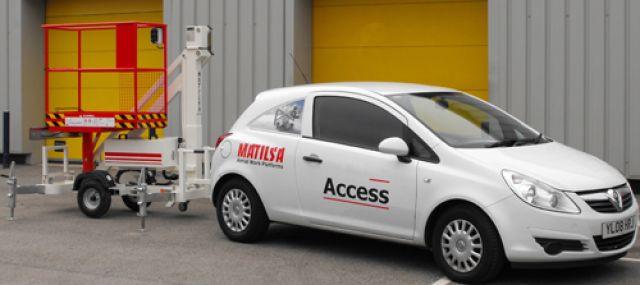 Trailer mounted aerial work platform Matilsa Parma7 6 Image