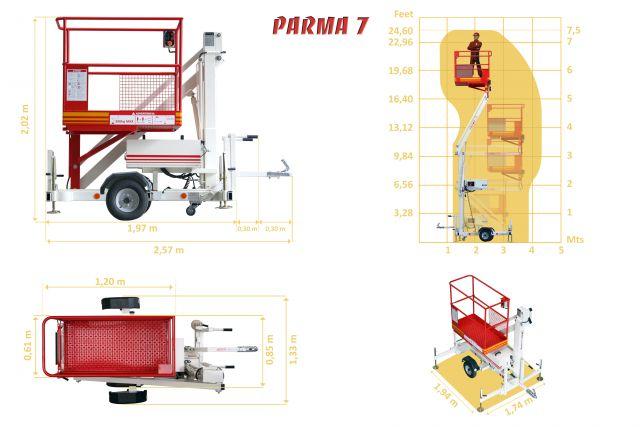 Trailer mounted aerial work platform Matilsa Parma7 4 Image