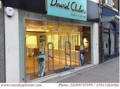 Full Frameless Glass Shop Fronts